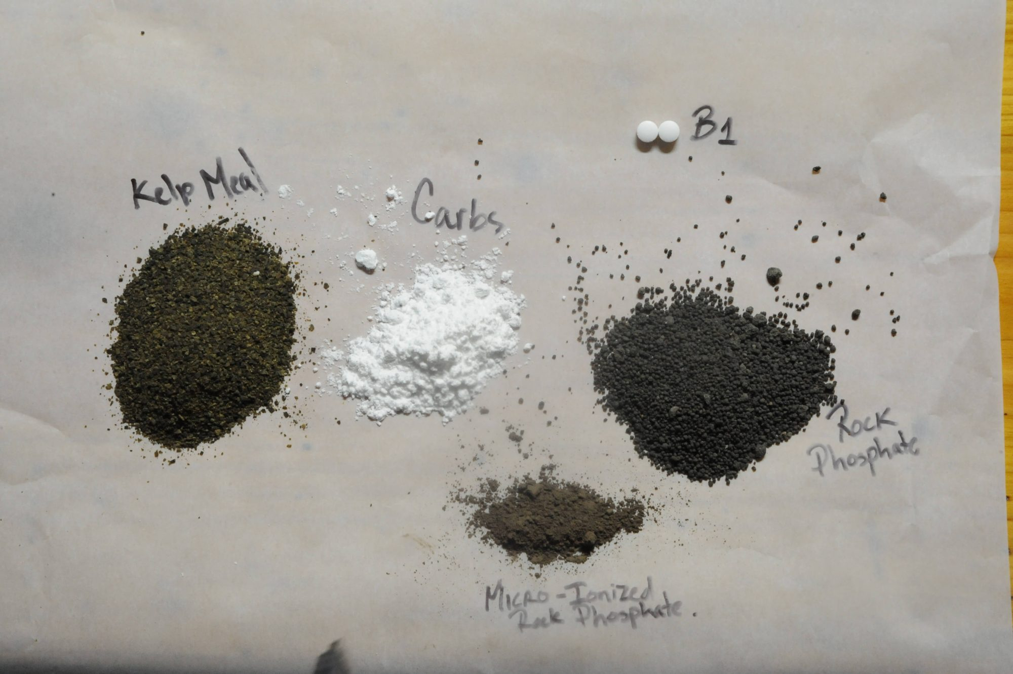 Cannabis Compost Tea Ingredients